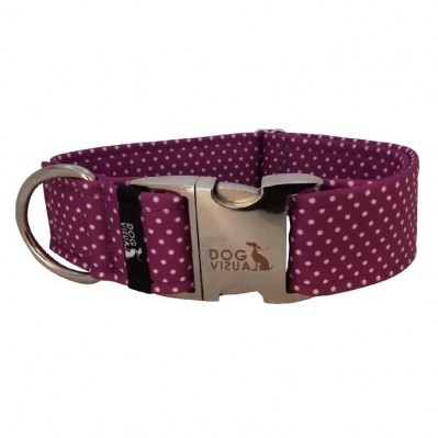 Obojek LIGHT PURPLE DOTS