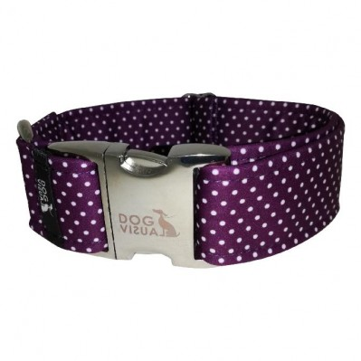 Obojek DARK PURPLE DOTS