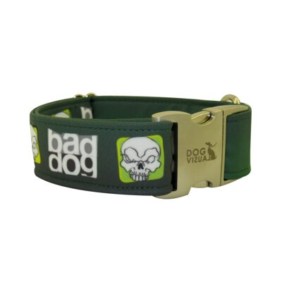 Obojek BAD DOG GREEN