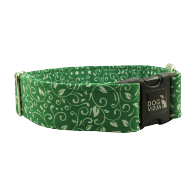 Obojek LUXURY PATTERN GREEN